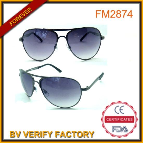 FM2874 Pilot Metal Eyewear China Wholesaler with Yellow Mirrored