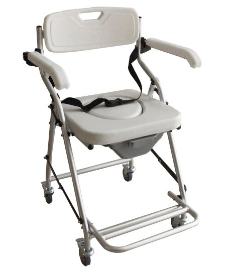 Waterproof Durable Aluminum Frame Commode Chair for Bathroom