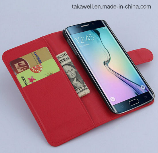 China Wholesale Book Style Flip Leather Case Cover for Samsung Galaxy S7 Cell Phone Case pictures & photos