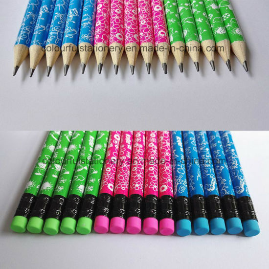 Hotsale Stationery Wood Pencil with Eraser pictures & photos