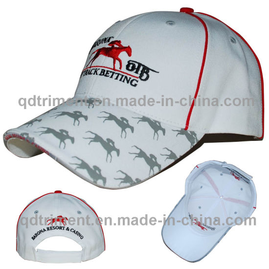 33143d752bc3a Print Embroidery Piping Cotton Twill Sport Baseball Cap (TMB8491-1)  pictures   photos