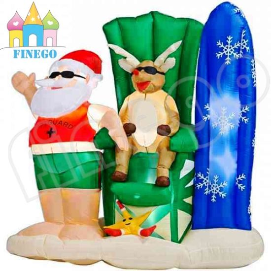 High Christmas Inflatable Penguin and Santa Claus Plane pictures & photos