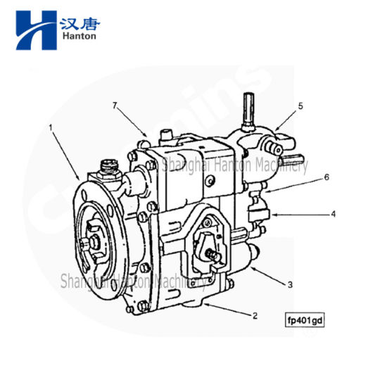 China Cummins Marine Diesel Engine Motor Kta19 Parts 3883776 Fuel