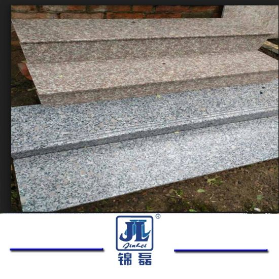 Factory Direct Grey Granite Stairs/Treads With Anti Slip Trip Line For  Outdoor And Indoor