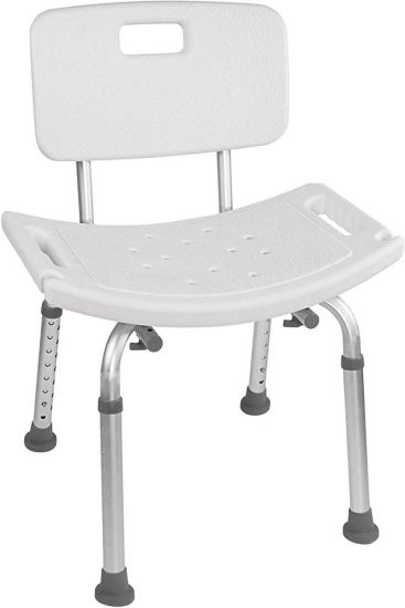 Tool-Free Assembly SPA Bathtub Adjustable Shower Chair Medical Seat