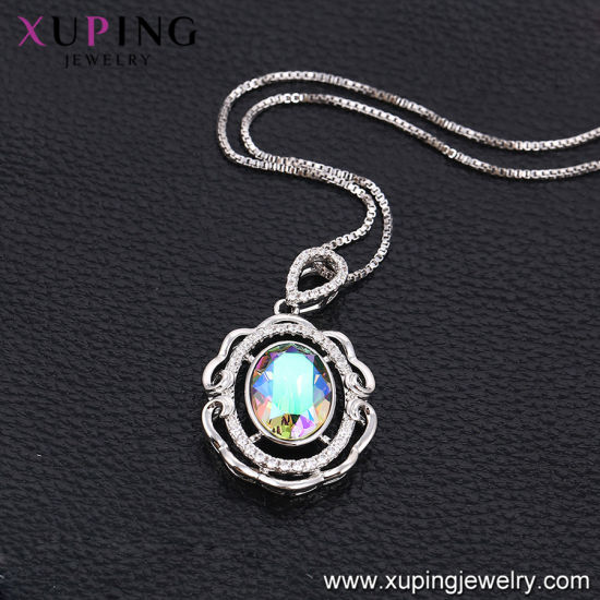 43090 Fashion Luxury Round Crystals From Swarovski Rhodium Imitation Jewelry Pendant Necklace pictures & photos