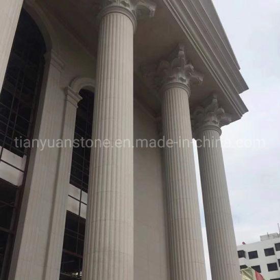 Roman Column with Stone Marble Granite Sandstone