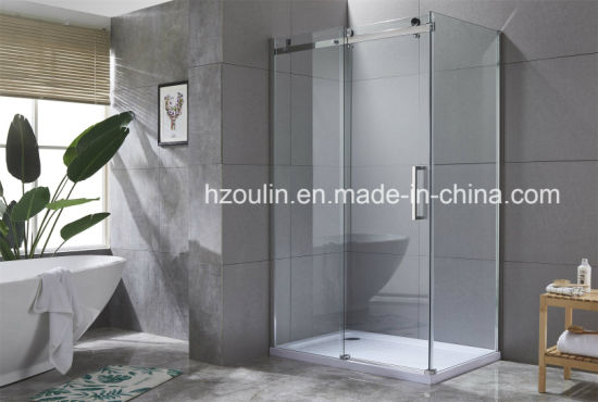 New Product Bathroom Walk in Square Shower Enclosure with Popular Design