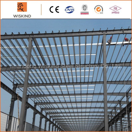 Quick Installed Q345b Prefabricated / Prefab / Peb Steel Structure Building for Office Building, Workshop, Warehouse, 4s Exhibition Hall