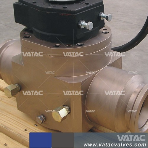 Forged Full Bore RF Flanged Top Entried Floating Ball Valve pictures & photos