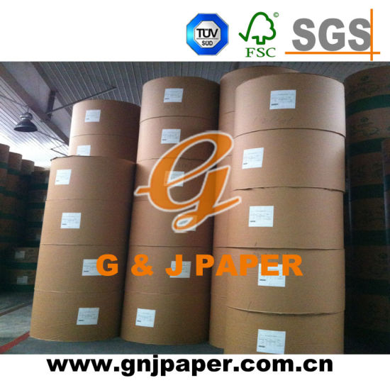Suitable Quality Medium Weight Gloss Couche Paper in Roll pictures & photos