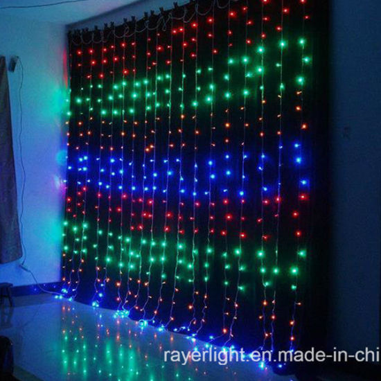 high quality christmas led waterfall curtain lights led decoration light