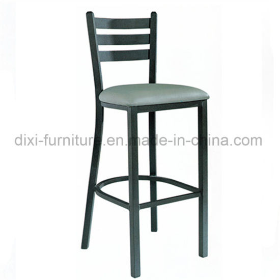 Restaurant Furniture Ladder Back Metal Bar Stool