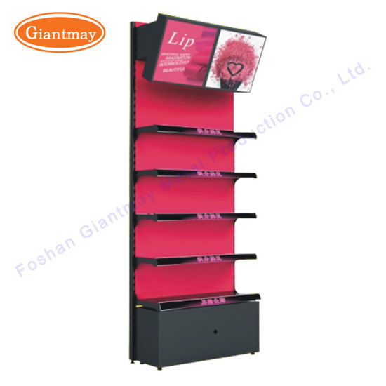 China Metal Cosmetic Makeup Exhibition Retail Shop Display Stand Interesting Cosmetic Retail Display Stands