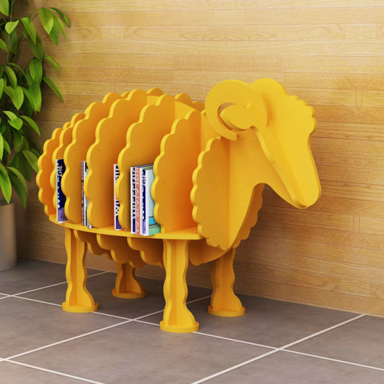 Wooden Sheep Style Free Standing Display Rack Home Office School Furnitures pictures & photos