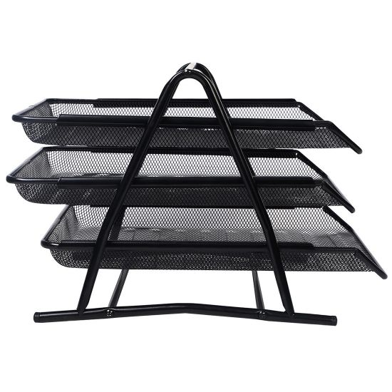 Office Filing Trays Holder A4 Doent Letter Paper Wire Mesh Storage Organizer