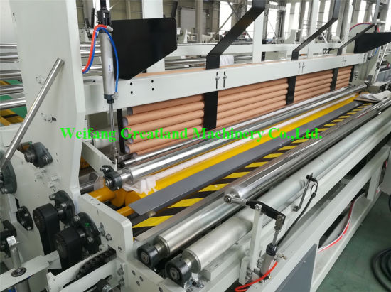 Automatic Embossed and Perforated Toilet Tissue Paper Making Kitchen Towel Rewinding Paper Machine