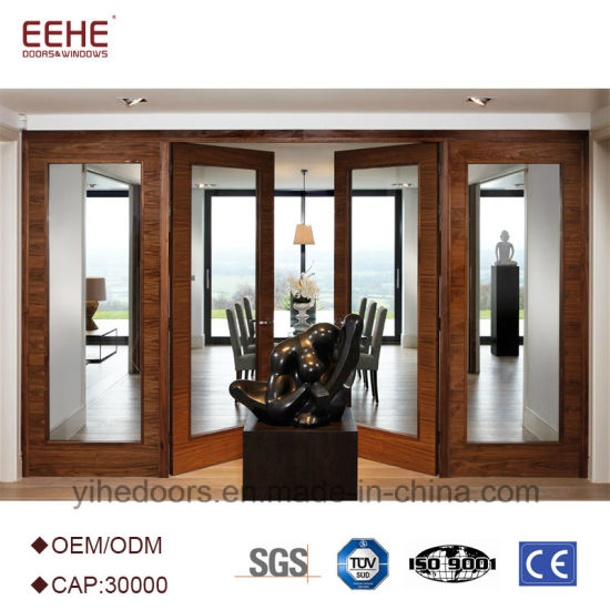 Wood Sliding Door With Wood Glass Door Design Bi Fold Door Barn Door