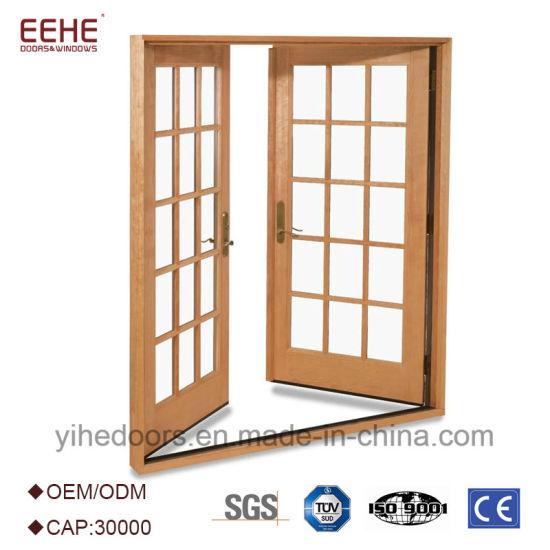 China Aluminum Commercial Comfort Room Double Swing Door Design