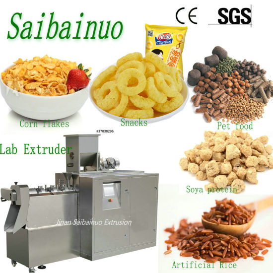 University Laboratory Research Corn Puff Snacks Soya Protein Extrusion Food Twin Screw Lab Food Extruder Machine