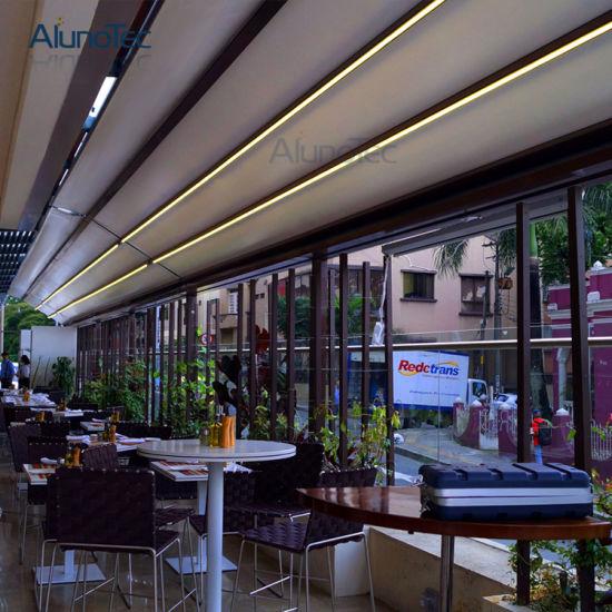 Aluminum Retractable Roof Sun Shades Pergola