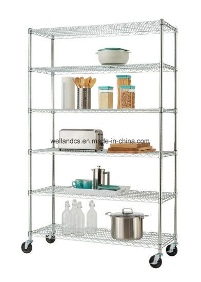 China Supplier 6 Layer Commercial Kitchen Storage Heavy Duty Steel ...