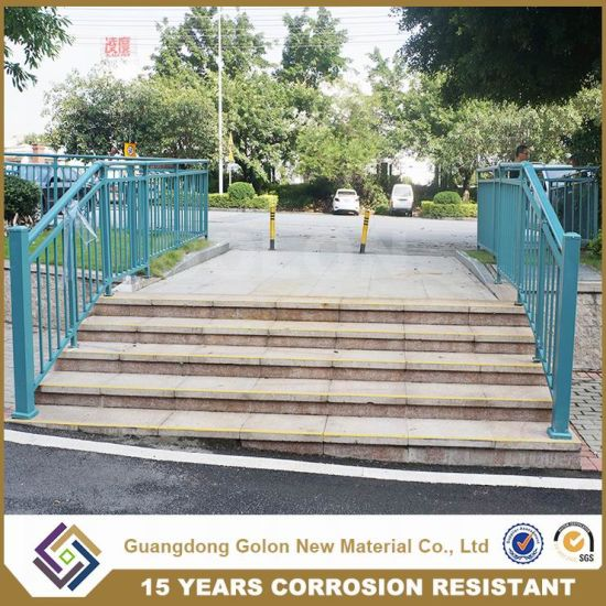Outdoor Steel Pipe Stair Handrail pictures & photos