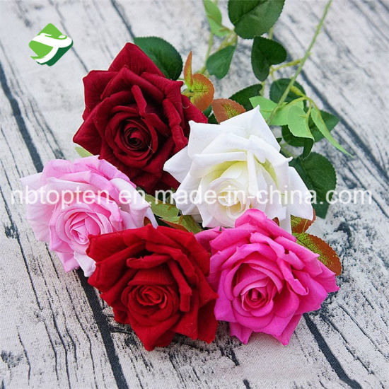 China flower factory direct sale decorative artificial flower flower factory direct sale decorative artificial flower wedding mini fabric rose flower mightylinksfo