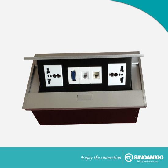 China Sinoamigo Pop Up Desktop Socket For Conference Table Power - Conference table power outlets