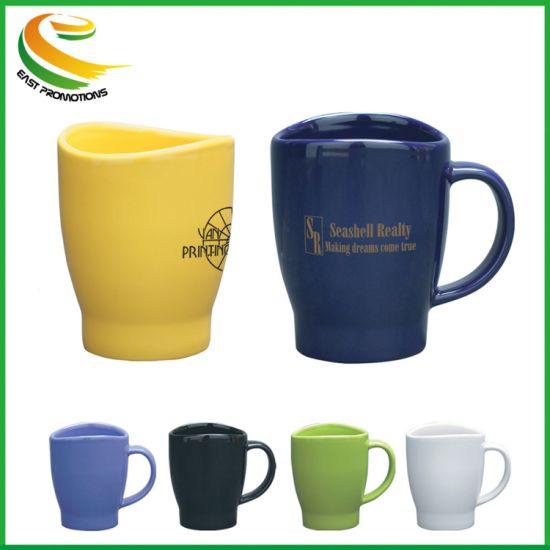 Custom Logo Ceramic Tea Cup Porcelain Coffee Mug with Saucer