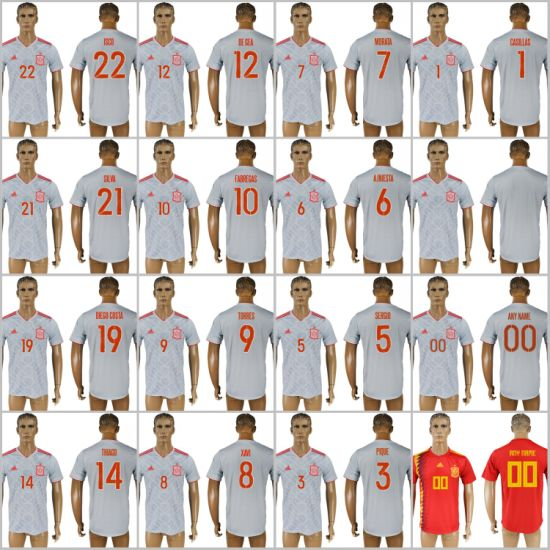 b19468fab China 2018 Fifa World Cup Russia Spain National Soccer Jerseys Away ...
