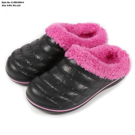 EVA Fur Garden Shoes Keep Winter Warm EVA Clogs