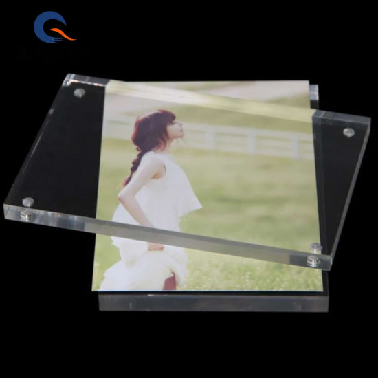 China Manufacture 4x6 5x7double Sided Magnetic Clear Acrylic