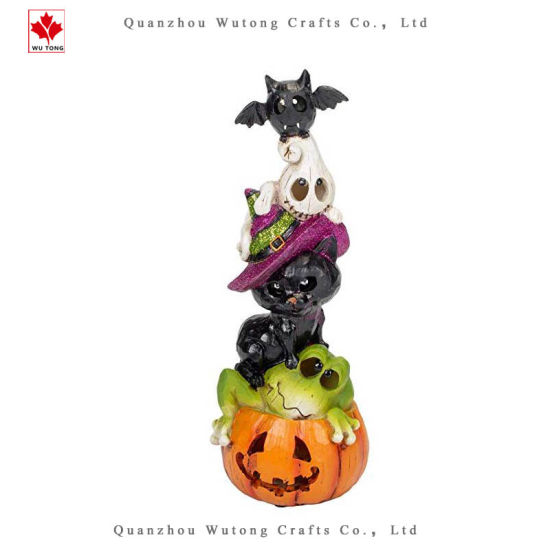 Resin Halloween Creature LED Stack Home Decor