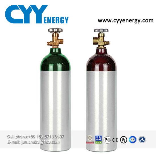 En 1L Aluminum Gas Cylinder for Medical Oxygen Storage