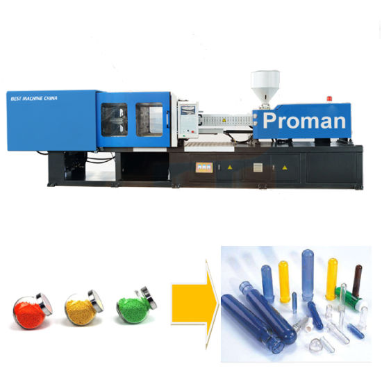 Automatic Pet Bottle Cap and Preform Embryo Plastic Products Making Injection Molding Machine