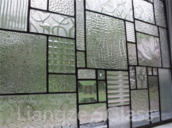 3.5mm 4mm 5mm 6mm 8mm Patterned Glass /Rolled Glass/Float Glass with Polka-DOT for Bathroom Decoration