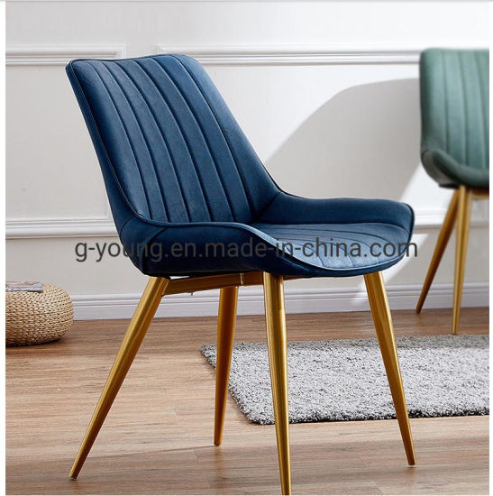French Leather Upholstered Office Luxury Dining Table and Chairs