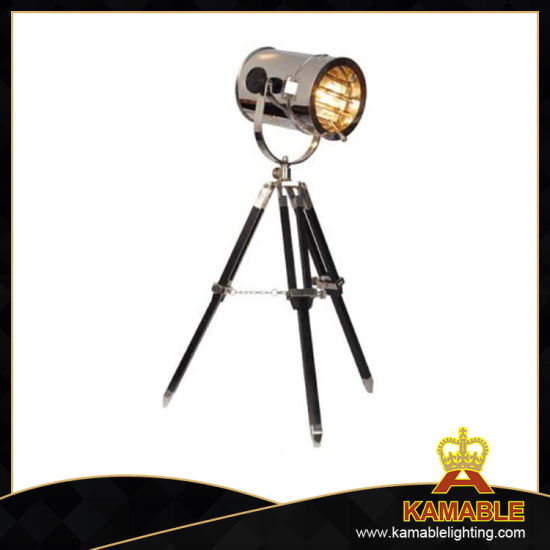 High Class Wood and Steel Studio Tripod Table Lamp (T701S)