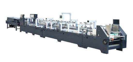 High Efficiency Best Quality Small Box Folder Gluer Machine for Sale (GK-800CS) Series