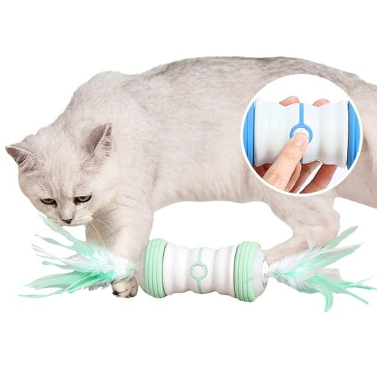 Funny Pet Electric Smart plastic USB Charge Light Laser Game Playing Interactive Cat Toy