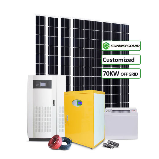 Factory Solar Station 70kw 80kw 100kw 120kw off Grid Storage Solar Power System 3phase 380V off Grid pictures & photos