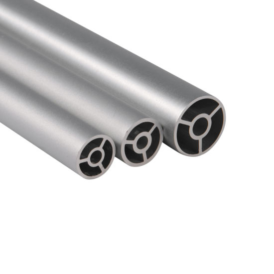 Extruded Aluminum Tube for Antenna Roller Printer Round Tube Pipe pictures & photos