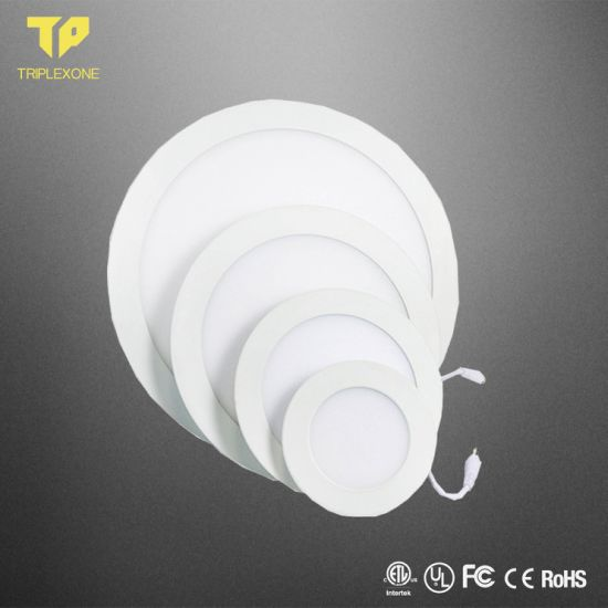 Factory Price 2 Years 85-265V Ceiling Recessed Round Ultra Silm 3W 6W 9W 12W 15W 18W 24W LED Panel Light with Isolated Driver