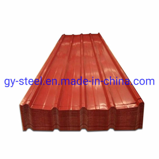 Building Material Color Prepainted Corrugated Steel Roofing Sheet