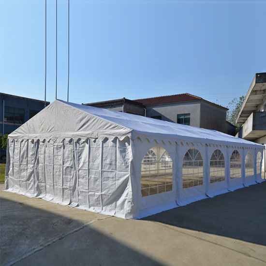Large Outdoor White PVC Steel Frame Wedding Party Event Marquee Tent