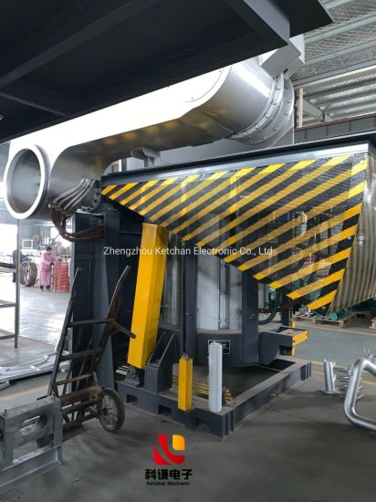 Industrial Electric Induction Melting System for Metal Gold Silver Scrap Copper Iron Steel Aluminum Smelting