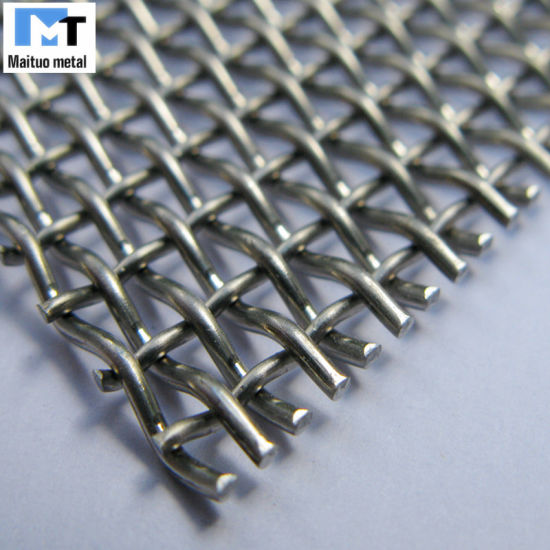 Hot Dipped Galvanized Woven Crimped Wire Mesh Panel /Roll pictures & photos