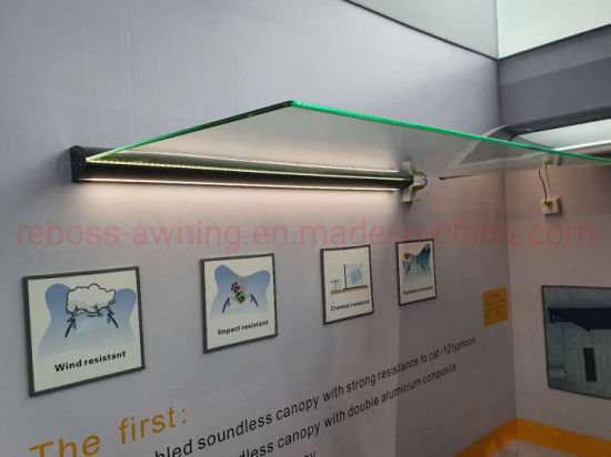 Alu. Customized 10mm Temper Glass Awnings for Garden