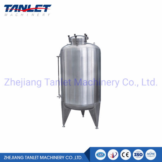 Industrial SS316 SS304 Storage Tank for Herbal Liquid Storage and Ethanol Storage